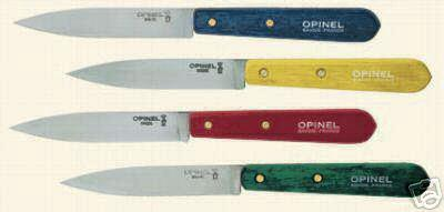 couteaux 4 opinel couleurs